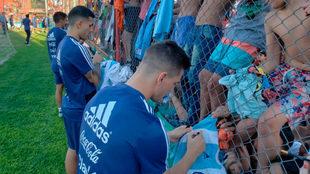 Entrenamiento de la selección de Argentina