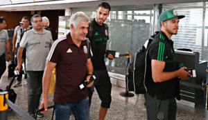 La selección mexicana a su llegada a Mendoza