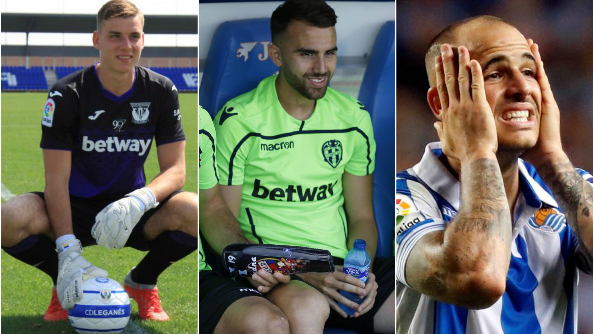 Lunin, Mayoral and Sandro.