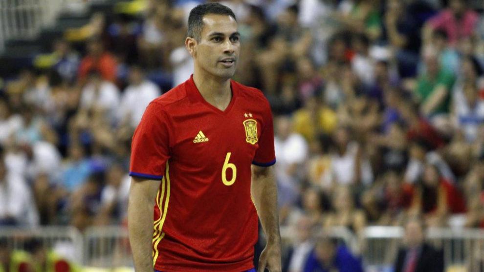 Fernando en un encuentro con la Selección Española.