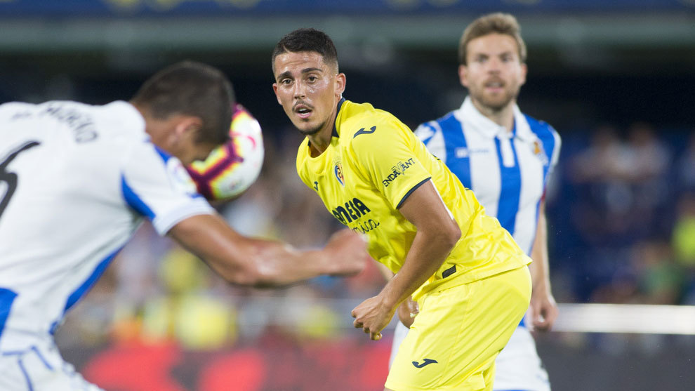 Pablo Fornals en un partido con el Villarreal.