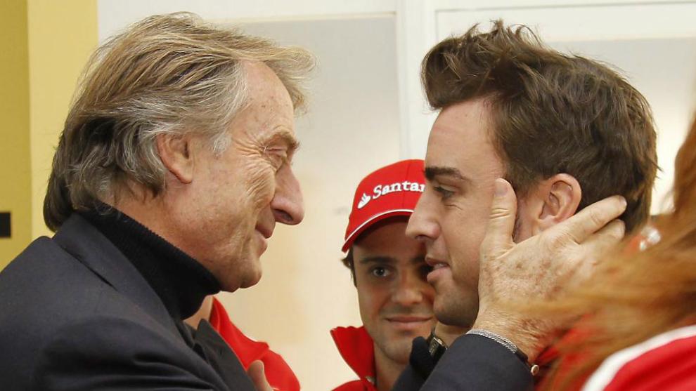 Fernando Alonso y Luca di Montezemolo