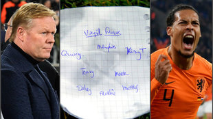 La nota de Koeman que supuso la remontada de Holanda.
