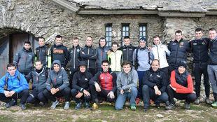 Los componentes del Euskadi Murias el fin de semana pasado en...
