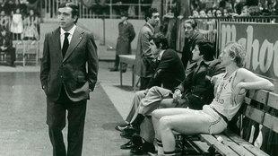 Pedro Ferrándiz, con Wayne Brabender en el banquillo