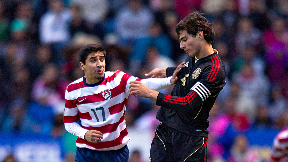 Daniel Garcia  y Antonio Briseño durante la final del Premundial Sub...