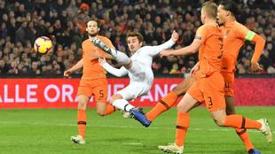 Griezmann, durante el pasado encuentro entre Francia y Holanda