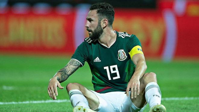 Layún durante el duelo ante Argentina