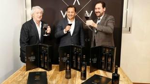 Anil Murthy este martes durante la presentación del vino del...
