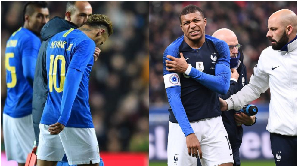 Kylian Mbappé and Neymar suffer injuries ahead of Liverpool clash