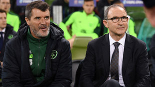 Roy Keane y Martin O'Neill.
