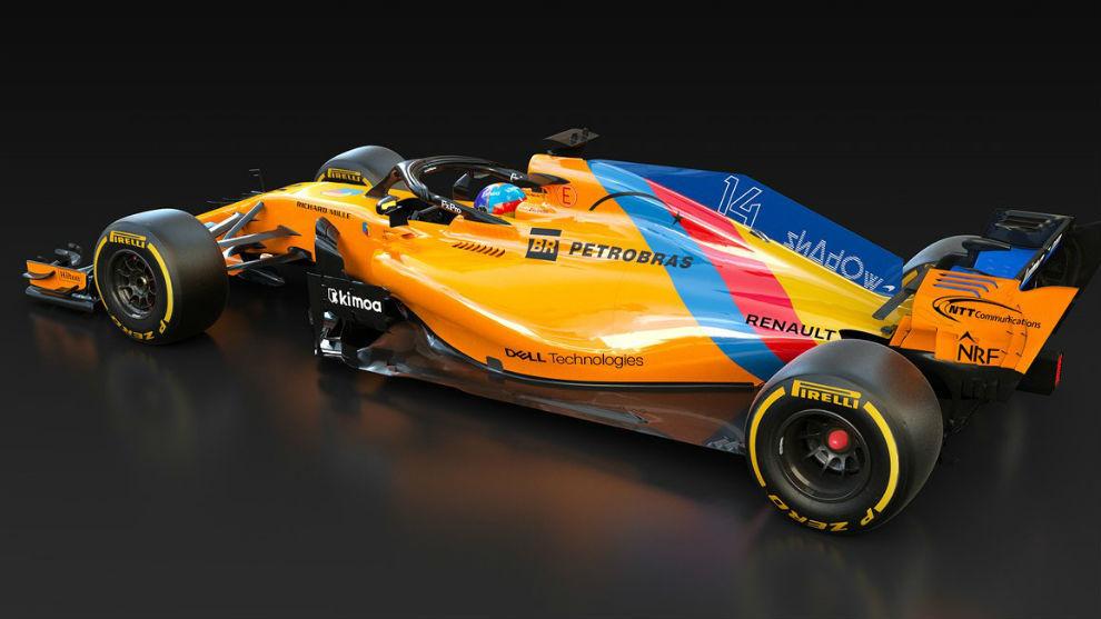 El McLaren de Alonso irá decorado con el azul de Asturias y la bandera española