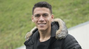 Héctor Moreno, posando para MARCA en Zubieta.