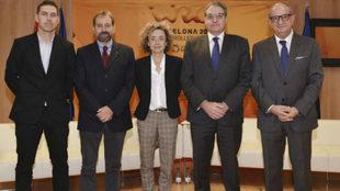 De izquierda a derecha, Marc Caballé, Ramón Basiana, Marta Carranza,...