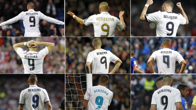 check out 5672e 84cfa LaLiga Santander - Real Madrid: Benzema, the No.9 of the ...