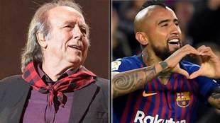 Joan Manuel Serrat y Arturo Vidal