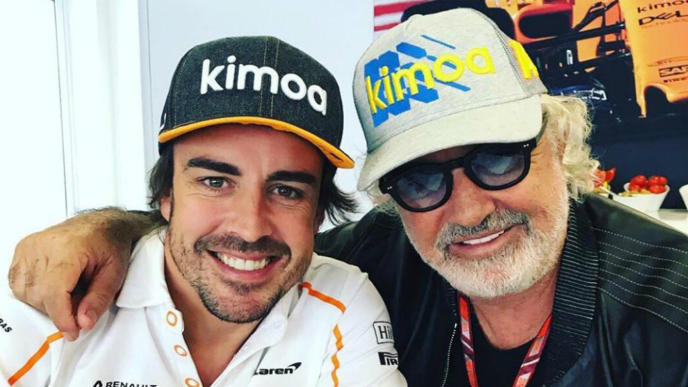 Fernando Alonso y Flavio Briatore