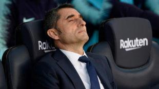 Valverde, durante el partido contra el Real Betis.