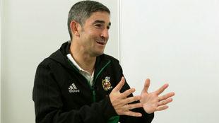 Alberto Undiano, durante la entrevista.