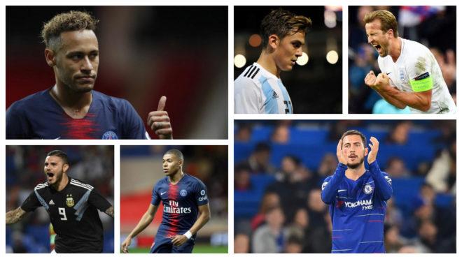 Neymar, Dybala, Kane, Icardi, Mbappe and Hazard.