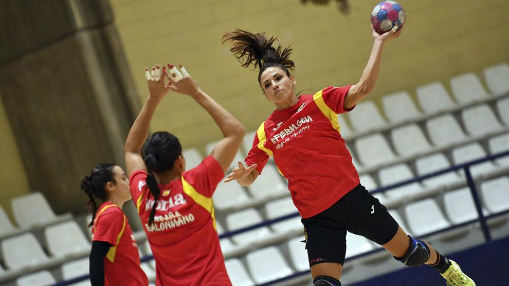 Entrenamiento de la selección española en Alicante