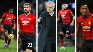 Rashford, Shaw, Lingard y Martial, en el punto de mira de Mourinho.