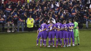 Los jugadores del Real Madrid posando antes de la final de Cardiff.