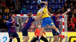 Imagen del Barcelona - Kielce jugado hace tres semanas en el Palau...