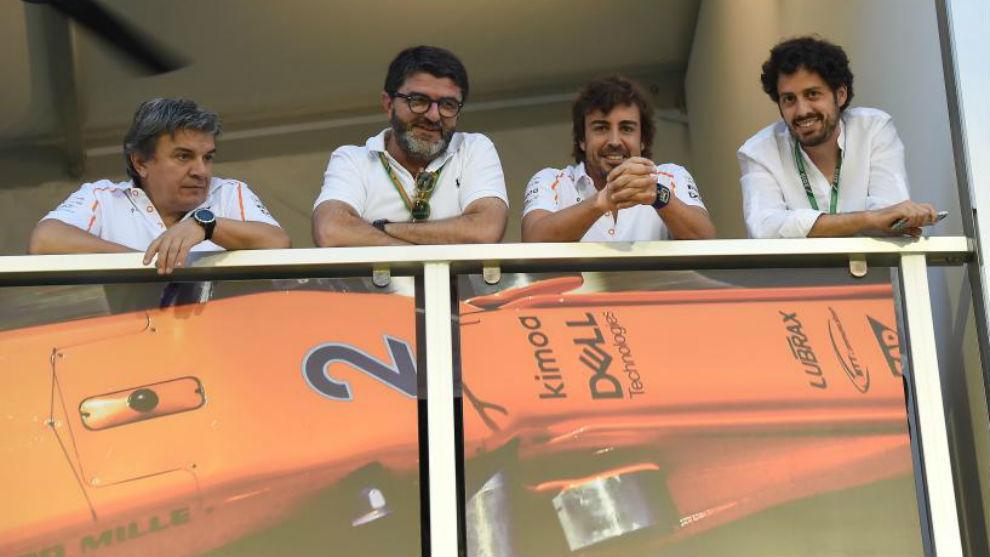 Fabri Borra, Luis García Abad, Fernando Alonso y Alberto Fernández...
