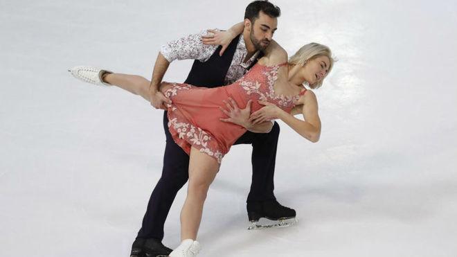 Olivia Smart y Adrián Díaz, durante su participación en los...