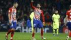 Costa celebrando su gol ante el Barcelona