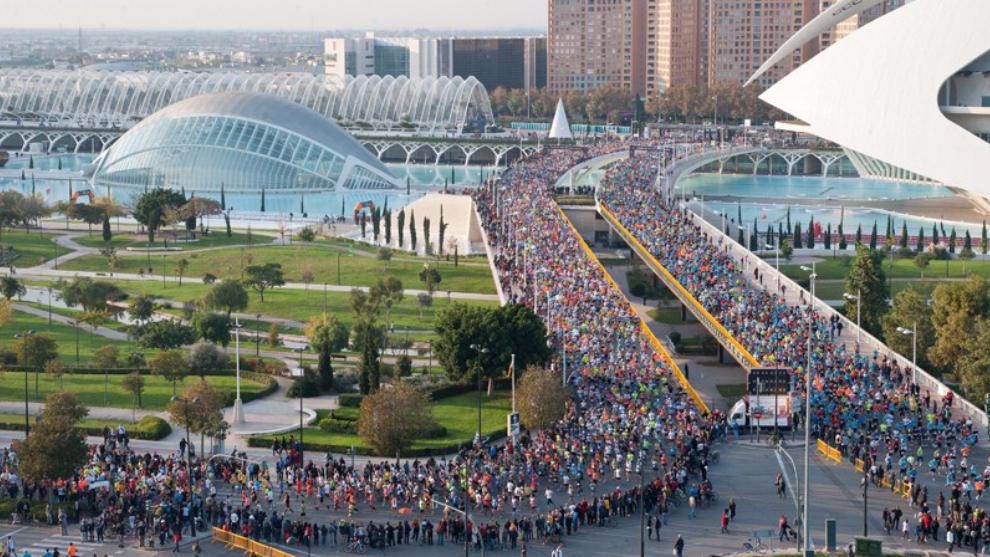 Imagen de la salida de la prueba en 2011, el momento en que cambió el...