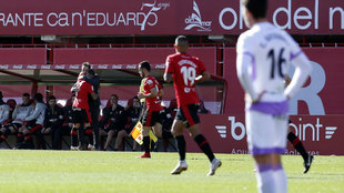 Aridai celebrando el gol del Mallorca