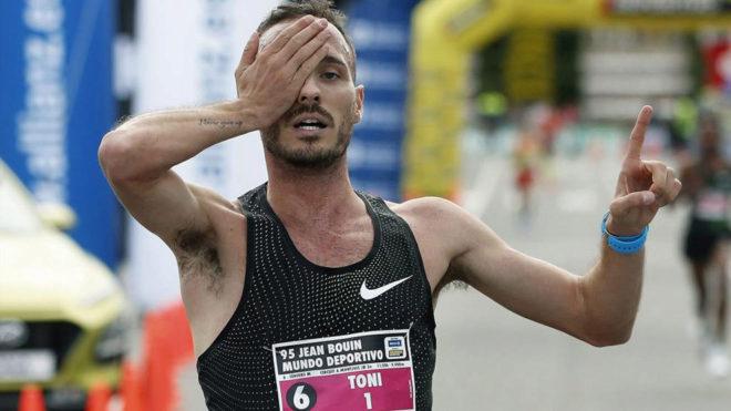 Toni Abadía, ganador de la Carrera Internacional Jean Bouin