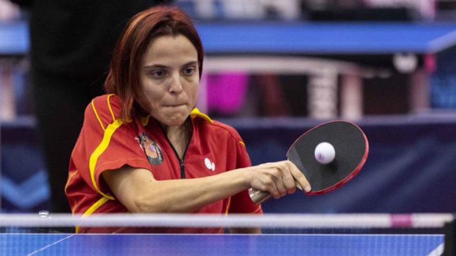 Cristina Rubio, en plena competición.