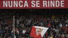 La afición del Sevilla en el duelo contra el Valadolid