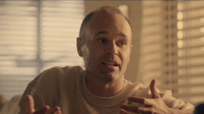 Andres Iniesta, during the interview with Jordi Evole