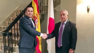 Alejandro Blanco, recibido en la Embajada española de Tokio