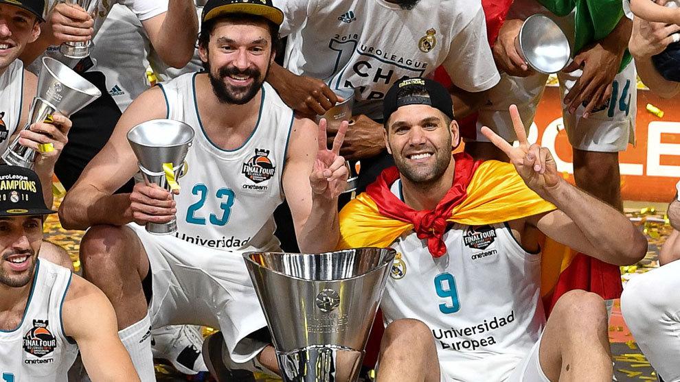 Llull y Reyes celebran la última Euroliga del Madrid
