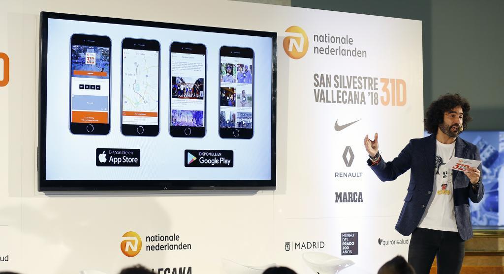 Presentación durante el acto de la nueva aplicación de móvil de la...