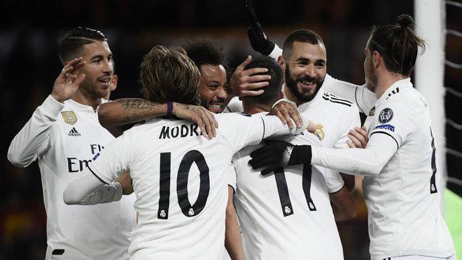 Sergio Ramos, Modric, Marcelo, Lucas Vazquez, Benzema and Bale...