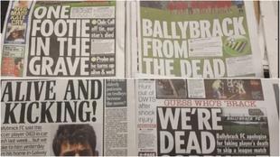 Portadas de los diarios irlandeses
