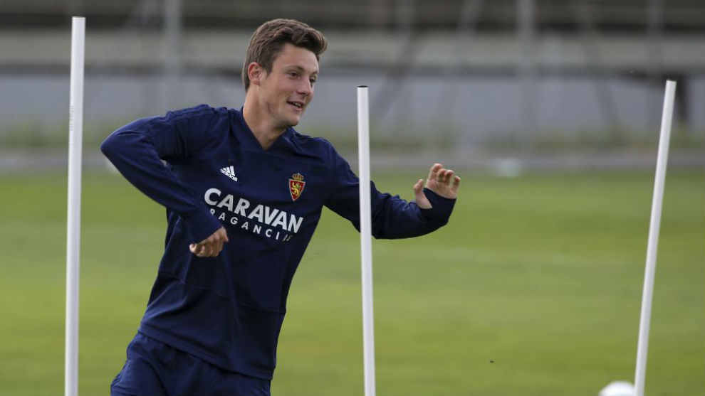Marcc Gual durante un entrenamiento.