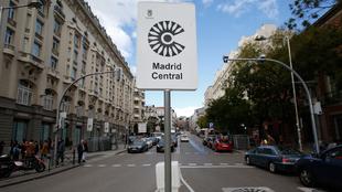 Madrid Central: señal que indica que se accede al área de acceso...
