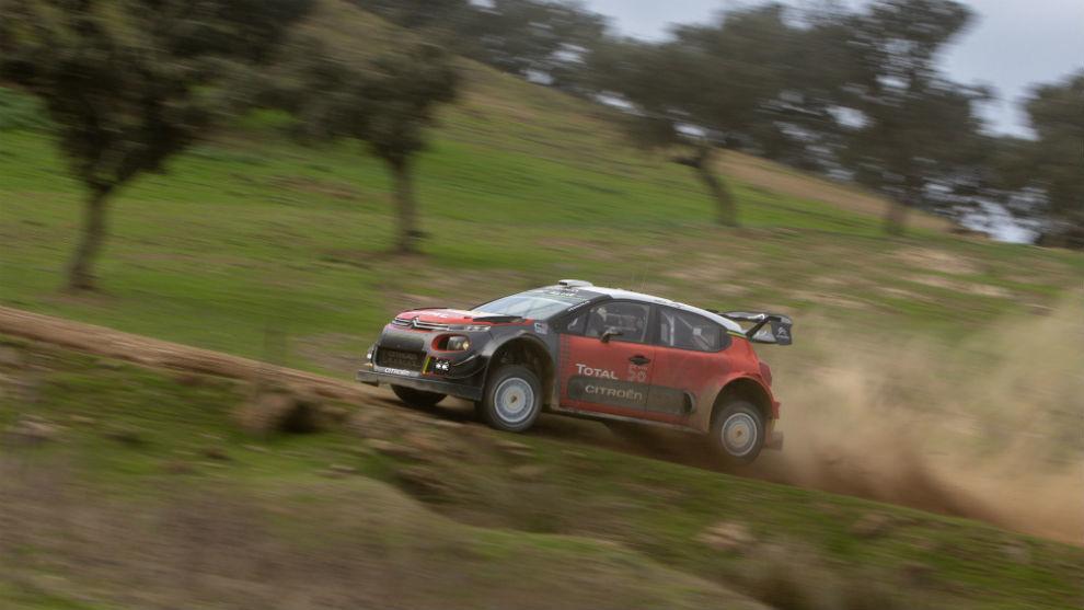 Sébastien Ogier, en El Algarve con Citroën.