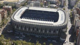 Panorámica del Santiago Bernabéu.
