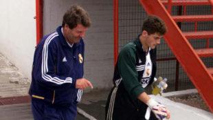 Toshack y Casillas, en un entrenamiento.