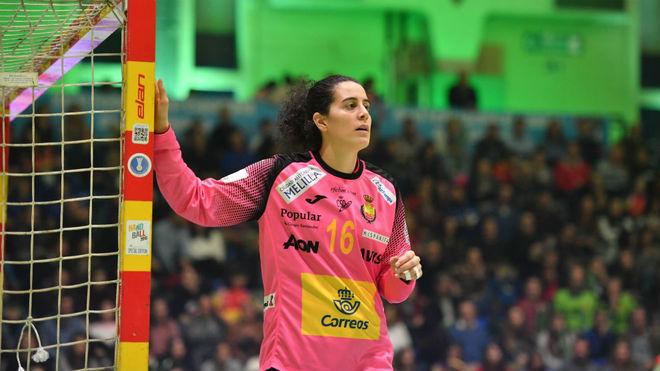 Merche Castellanos, en un partido del reciente Torneo Internacional de...