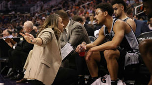 You can't have a hot female coach in the NBA, the players would...