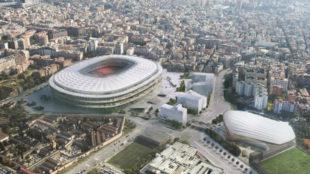 Imagen de cómo será el nuevo Camp Nou.